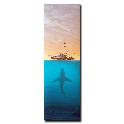 Jaws 12x38inch Classic Horror Movie Art Silk Poster Room Door Decal Cool Gifts