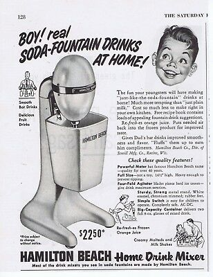 1953 Advertisement - HAMILTON BEACH HOME DRINK MIXER