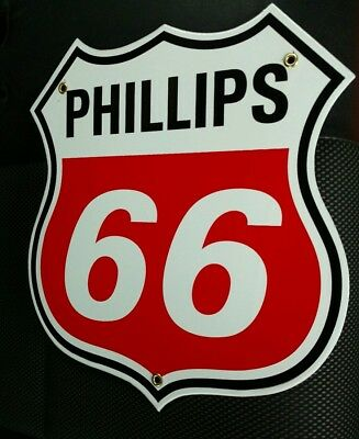 Phillips 66 Gas Oil Porcelain advertising Sign . . #1