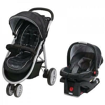 Graco Aire3 Click Connect Travel System, One Size, Gotham Collection - Free Ship