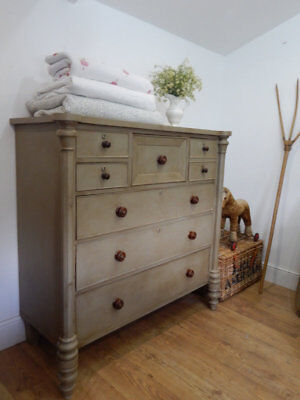 Large antique Scottish chest of drawers