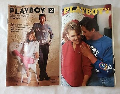 2 Playboy Magazine Products Catalogs Spring/Summer 1988 Fashions Gifts Intimates