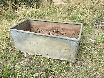 Vintage Riveted Galvanised Trough / Garden Planter **No Bottom** Sides Only