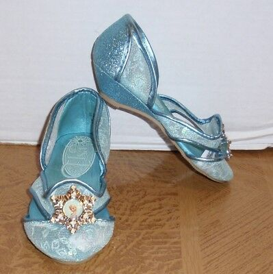 Disney Store Frozen Elsa Sparkly Slipper Shoes - Girls Size 7/8