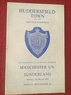 Manchester United v Sunderland  1964 FA Cup 2nd Replay At Huddersfield
