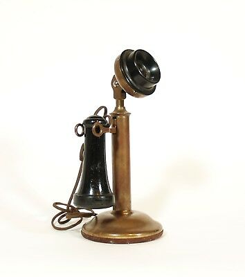 1905 Western Electric Candlestick Telephone * Beautiful Brass Phone