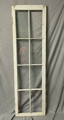 Antique 8 Lite Casement Door Window Cabinet Shabby Vtg Old 20x70   27-18C