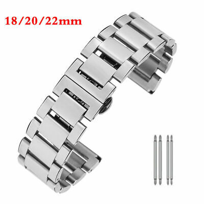 18/20/22mm Solid Link Wrist Band For Wish Watch Bracelet Stainless Steel Strap