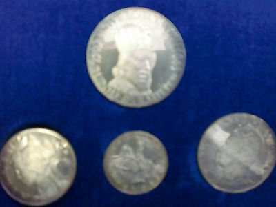 1965 Austria Silver 4 Coin Proof Set Contains 1.17 Ounces Ships For Free In Usa