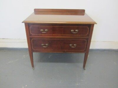 Antique Edwardian Mahogany 2 drawer chest of drawers