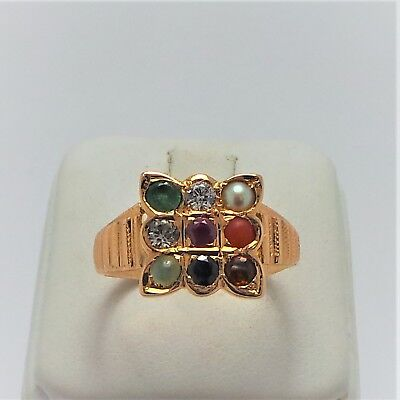18ct ROSE GOLD MULTI GEM RING VALUED @$2107 COMES WITH VALUATION