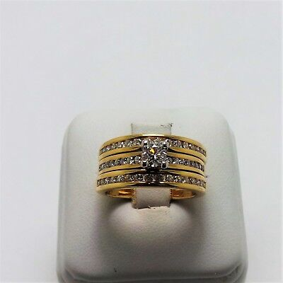 18ct YELLOW GOLD 3 RING DIAMOND BRIDAL SET - VALUED @$5288 COMES WITH VALUATION