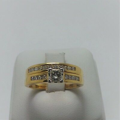 18ct YELLOW GOLD DIAMOND BRIDAL SET OF 2 RINGS VALUED@$3323 COMES WITH VALUATION