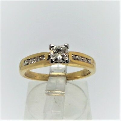 18Ct Yellow Gold 1/2 Ct Yellow Gold Diamond Ring Valued@ $2972  With Valuation
