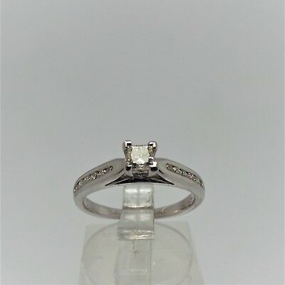 18Ct White Gold Diamond Engagement Ring Valued @$1634 Comes With Valuation