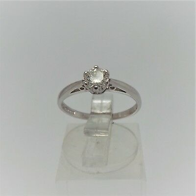 18ct WHITE GOLD DIAMOND SOLITIARE RING VALUED @$1841 COMES WITH VALUATION