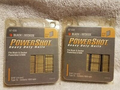 Powershot 9/16 Brads - 2 Packs w/ 1600 Nails Each - 97-030 - Fits 5700N