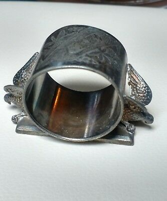 Rogers & Bro. Triple Plate Napkin Ring with 2 Eagles, 1880's, No Mono