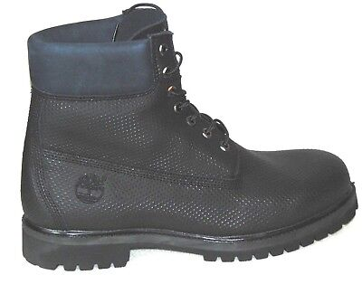 6fb68326bc1 MEN'S TIMBERLAND 6 Inch Premium Boot Tb0A1Pbm Black/Orange Sizes 7.5 ...