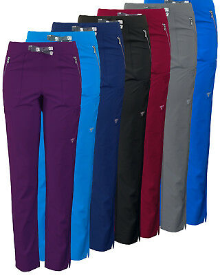 Women's MG SuperFlex Athletic Fit Stretch Slim Leg Scrub Pant with Zipper Pocket