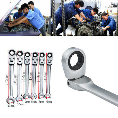 Spanners Ratcheting Combination Hand Tool Wrench Kit Repairing Home Garden SL