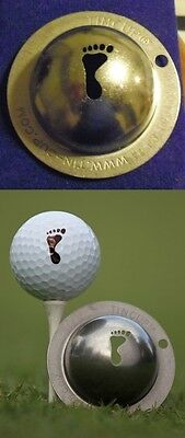 1 only TIN CUP GOLF BALL MARKER - BIG FOOT -buy any 2, receive special offer