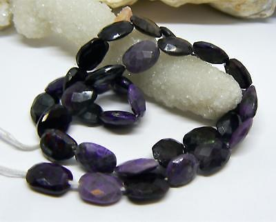 RARE NATURAL FACETED PURPLE AFRICAN SUGILITE NUGGET BEADS 10-11mm 92cts AAA