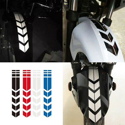 1 Sheet Car Wheel Decals on Fender PET Reflective New Motorcycle Stickers Decor