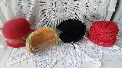 Mixed Lot of Four Vintage Women's Hats