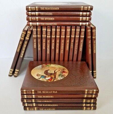 Vintage Time Life Books The Old West Series 24 Volume Leatherette Set
