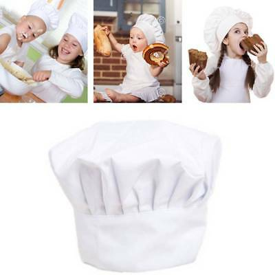 Adult Kid White Chef Hat Elastic For Party Kitchen Baking Cooking Costume Cap