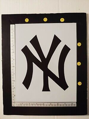 "New York Yankees NY 8.5"" x 11"" Custom Stencil FAST FREE SHIPPING"