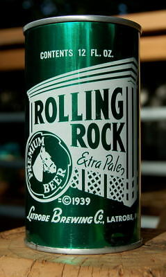 Tarnish Free 1960's Rolling Rock Pull Tab Beer Can! Horse In The Circle! Sweet!