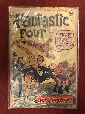 Fantastic Four #4 First Sub-Mariner! A Must Have!