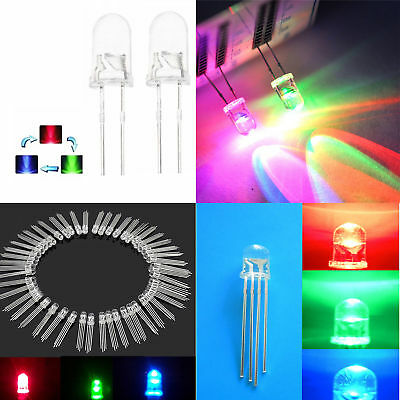 Round LED 5/8/10mm RGB Common Anode/Cathode Fast/Slow Rainbow Blink ATF