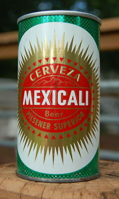 Super Scarce Mexicali Zip Tab Pull Tab Beer Can! Cool White Bottom Lid!