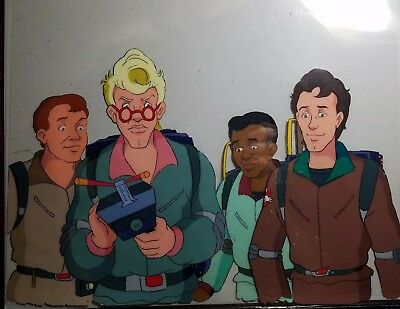 Original THE REAL GHOSTBUSTERS Production Animation Cel WHOLE TEAM!!!