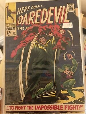 Daredevil #32 MARVEL 1967 GOOD GRADE D.D battles Human Cobra and Mr. Hyde! NMVF