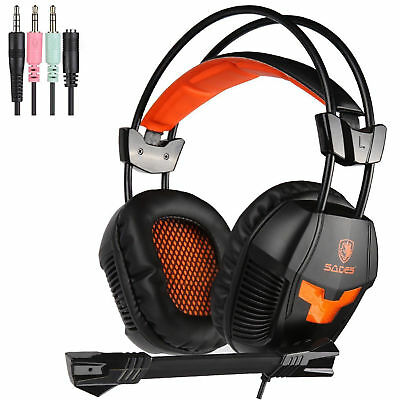 Sades 3.5mm Gaming Headset MIC Headphones Surround for PC Laptop PS4 Xbox One