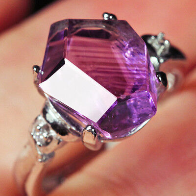 15.2Ct 100% Natural 18K Gold Plated Purple Amethyst Crystal Ring UDDS138