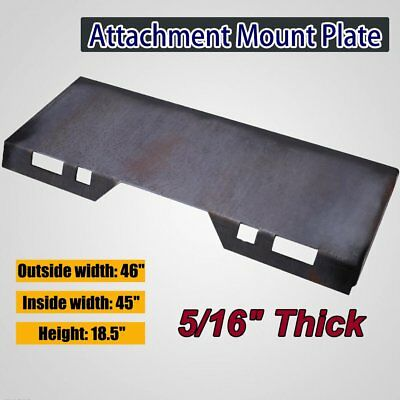 """5/16"""" Quick Tach Attachment Mount Plate Skidsteer Tractor Structural steel 85lb"""
