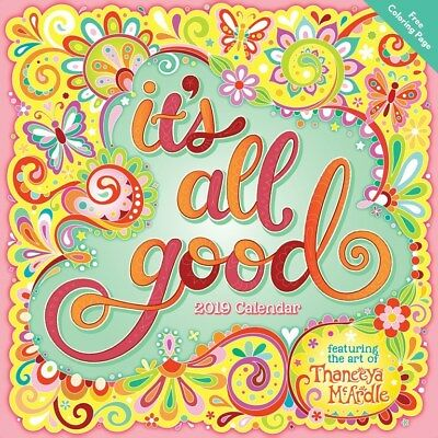 It's All Good 2019 Square Wall Calendar by Andrews McMeel, Postage Included