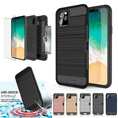 For New Apple iPhone X XS MAX XR Card Shock Proof Tough Strong Armor Case Cover