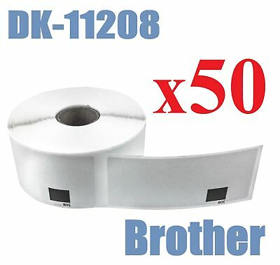 50 x Compatible Labels Brother DK-11208 DK11208 38 mm x 90 mm 400pcs/Roll White