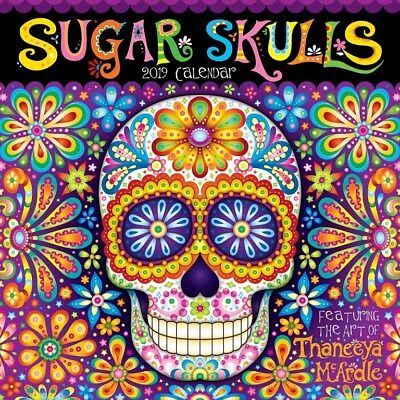 Sugar Skulls 2019 Square Wall Calendar by Andrews McMeel, Postage Included