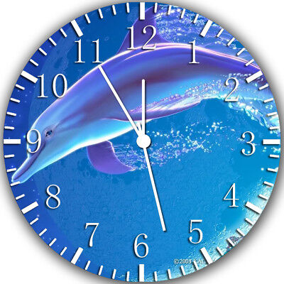 Dolphin Frameless Borderless Wall Clock Nice For Gifts or Decor Y59