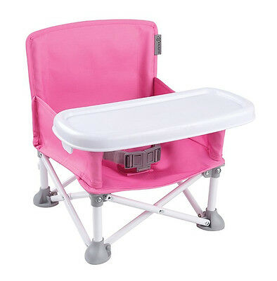 Summer Infant Pop N Sit Portable Booster Seat Mess Tray Foldable Chair NEW JH
