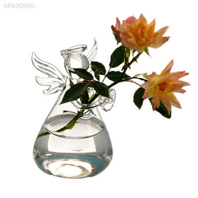 CFE8 Glass Vase Decor Home Angel Shape Hanging Glass Plant