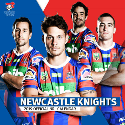 c7aae513386 NRL Newcastle Knights Official NRL 2019 Wall Calendar NEW by Paper Pocket