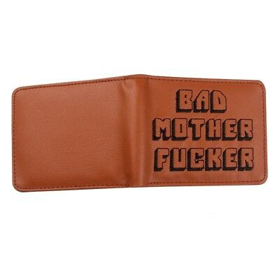 BAD MOTHER WALLET |BMF| Embroidered BROWN Leather Wallet As Seen In PULP FICTION